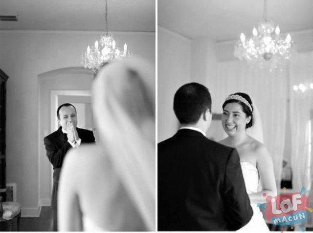 Eşini Gelinlikle İlk Kez Gören Damatlar