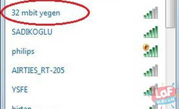 Türkiye'de Kullanılan En İlginç Wi-Fi İsimleri