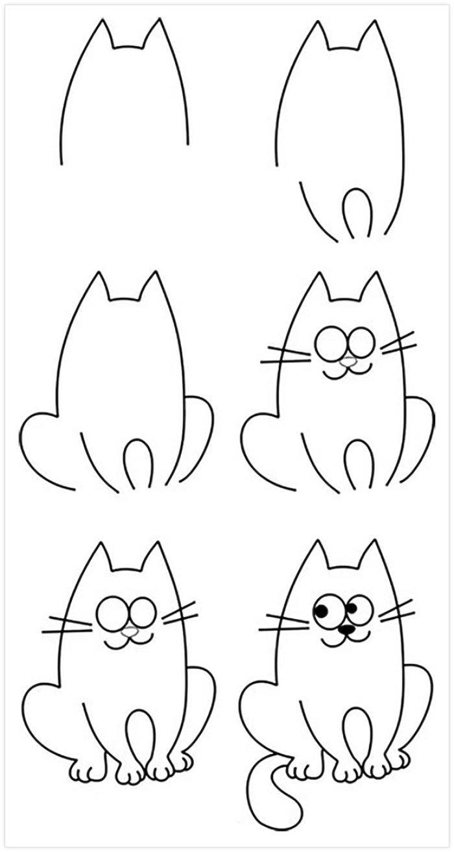 Pratik Kedi Nasıl Çizilir