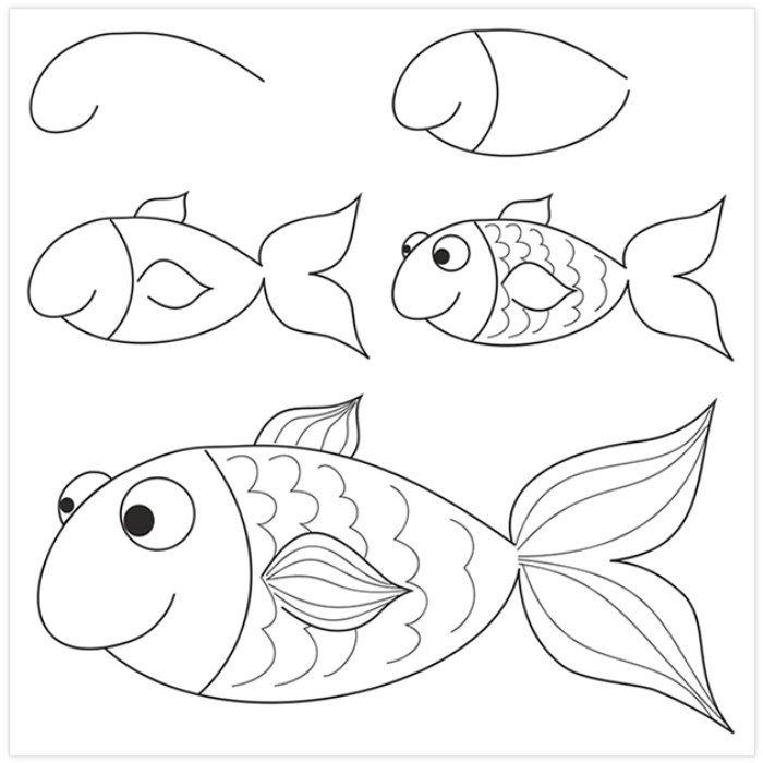 Pratik Balık Nasıl Çizilir