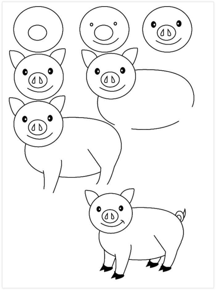 Pratik Domuz Nasıl Çizilir