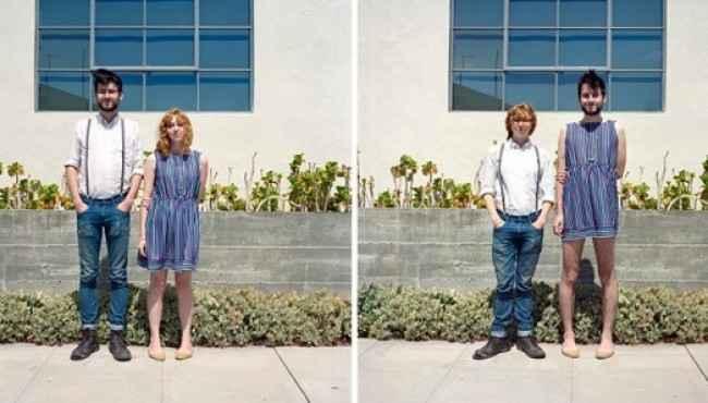 Eşiyle Kıyafetini Değiştiren Çiftlerin İlginç Görüntüleri