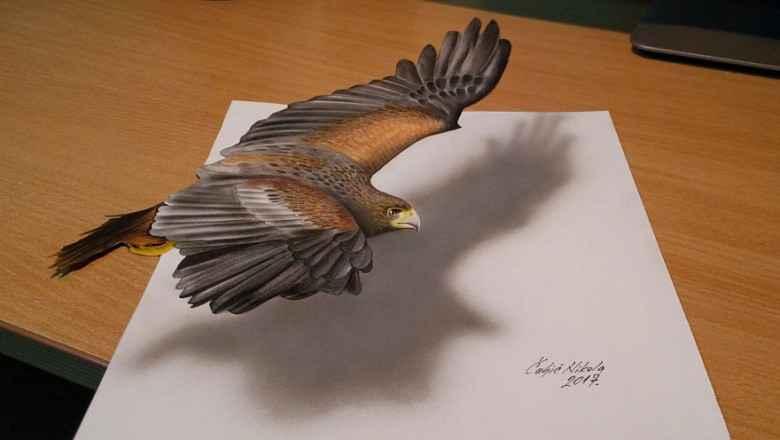 El ile Kağıt Üzerine Çizilmiş İnanılmaz 3 Boyutlu Çizimler