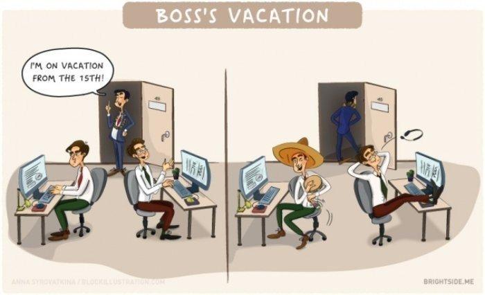 Patron İzne Çıkınca
