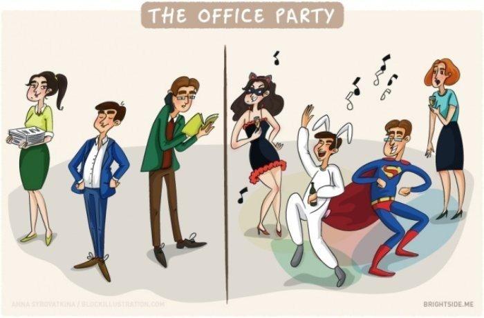 Çalışanların Ofiste ve Dışarıdaki Halleri