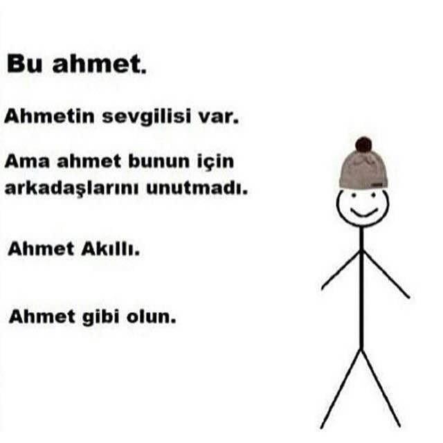 Bu Ahmet Gibi Olun