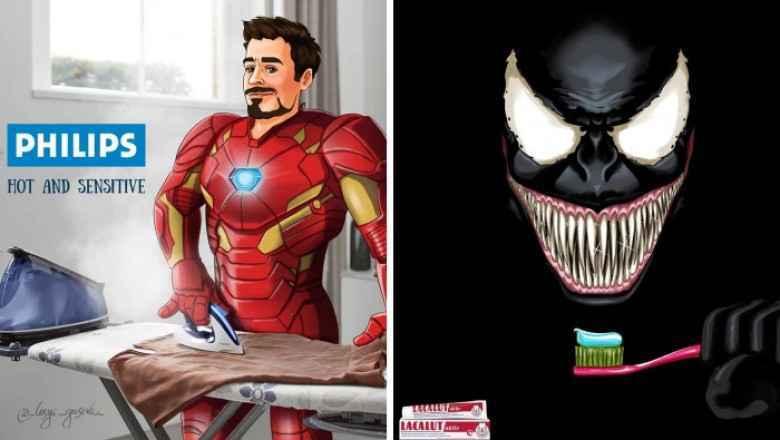 Süper Kahramanlar Markaların Yüzü Olsaydı Nasıl Olurdu