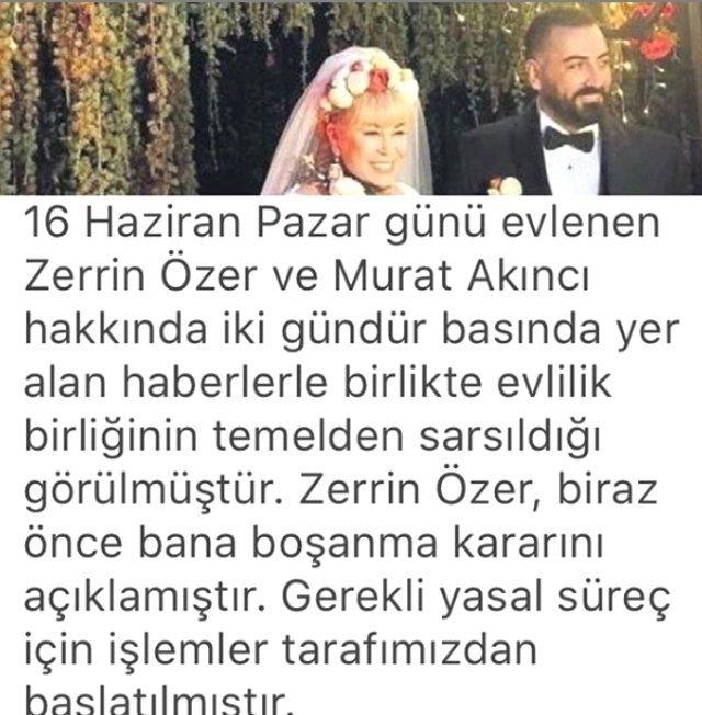 """""""BOŞANMA İÇİN YASAL SÜREÇ BAŞLATILDI"""""""