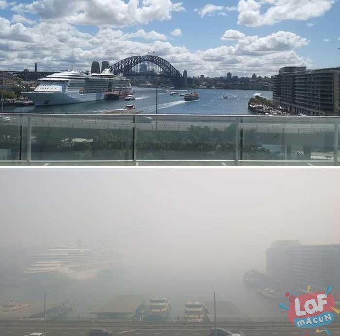 Avustralya yangını öncesi ve sonrası fotoğraflar