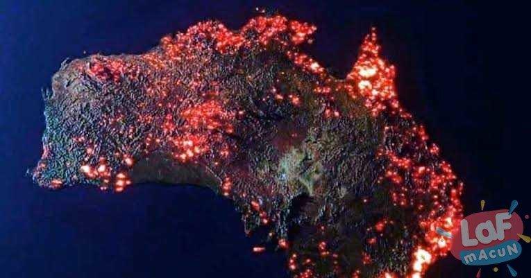 Avustralya yangını nasa fotoğrafı