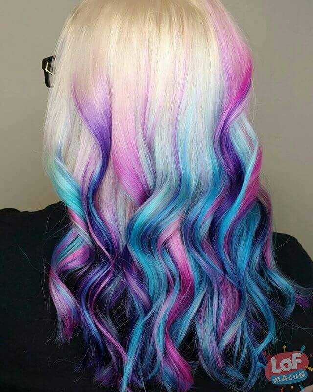 Holografik Saç Rengi