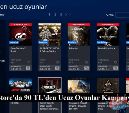 Playstation store 90 tl altı oyunlar