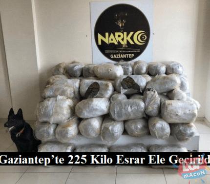 Gaziantep'te 225 Kilo Esrar Ele Geçirildi