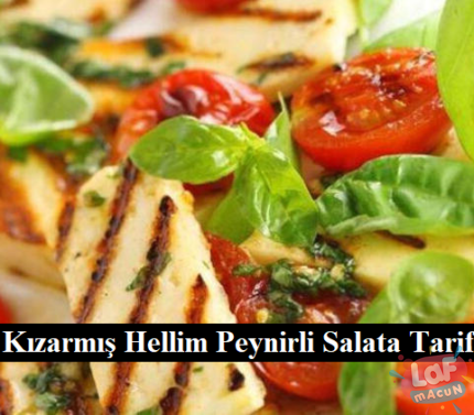 Kızarmış Hellim Peynirli Salata Tarifi
