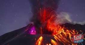 Sakurajima (Japonya) volkanı