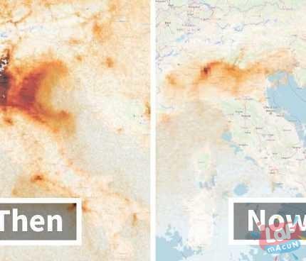 Uydu Görüntüleri, Coronavirus'ten sonra dünyanın temizlendiğini gösterdi